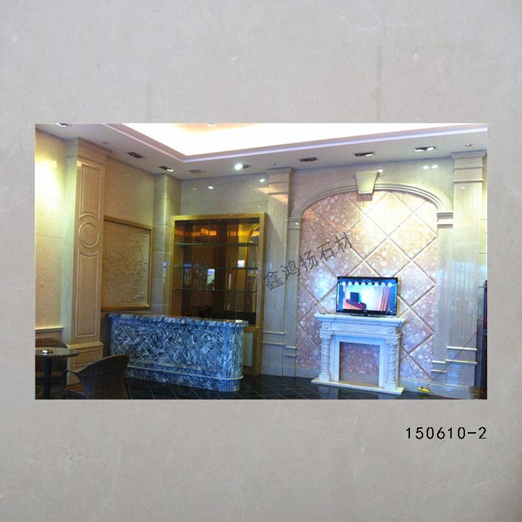 最美最优价的简欧大理石背景墙罗马住线条组合装饰厂
