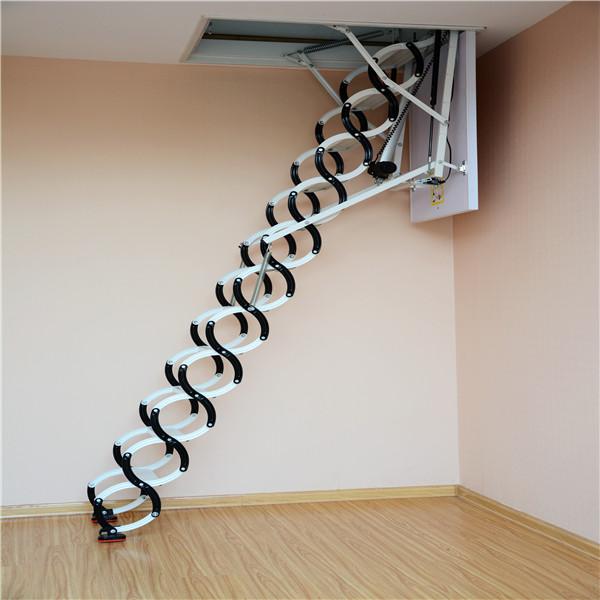 因为阁楼楼梯阁楼伸缩楼梯结构原理比较简单,和其它定制型的楼梯不一