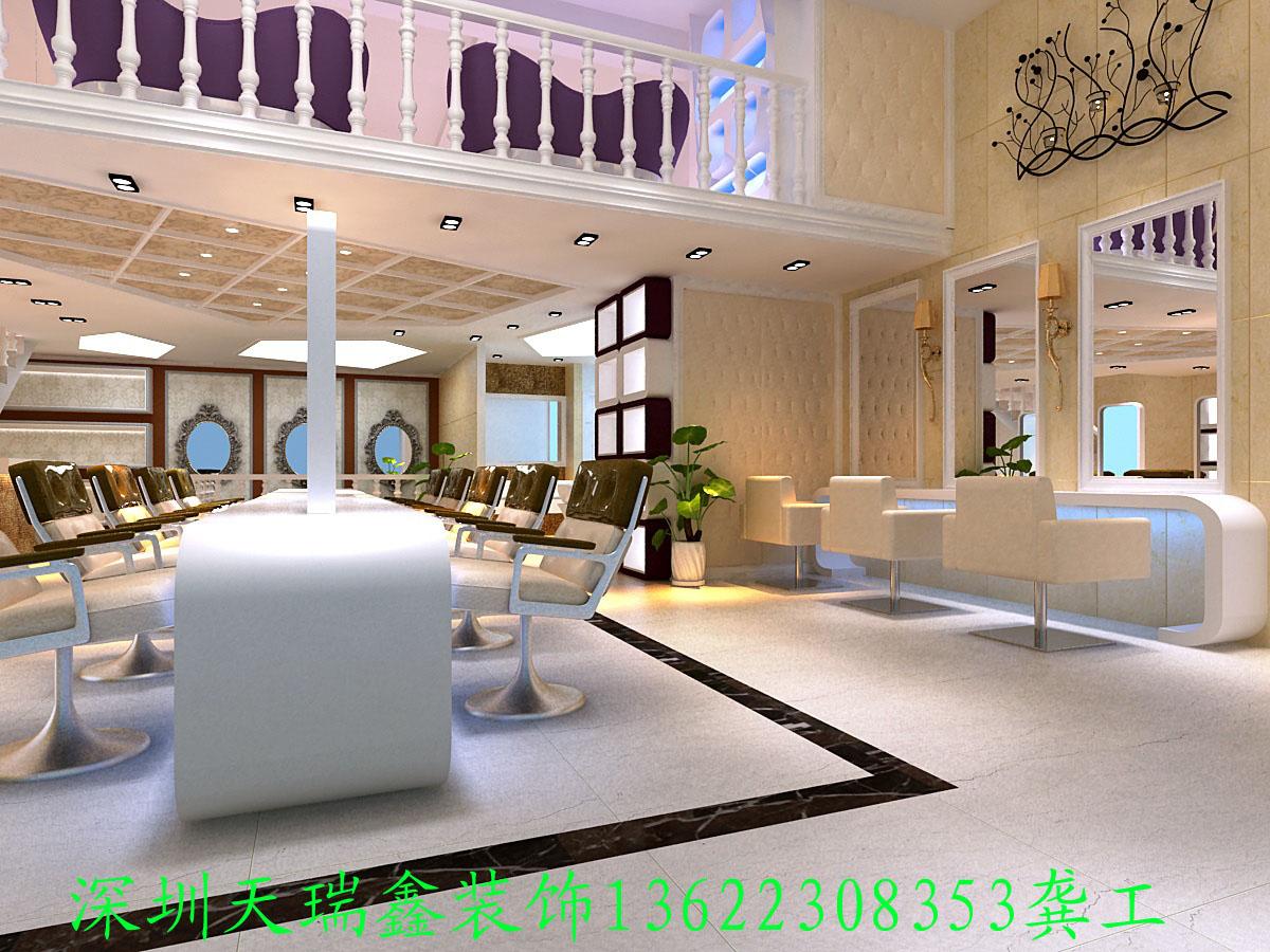 专业发廊装修公司 深圳天瑞鑫装饰