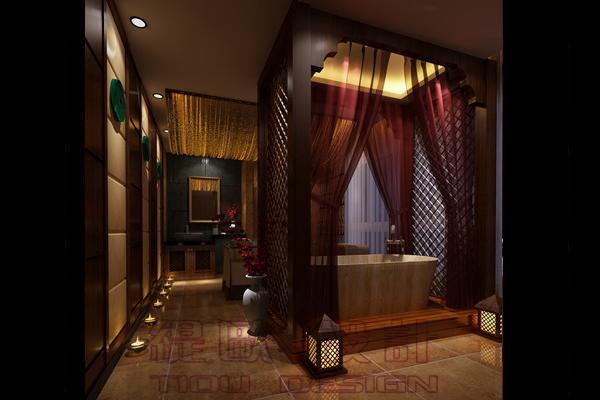 200平米欧式+泰式风格美容院spa会所室内装饰效果图