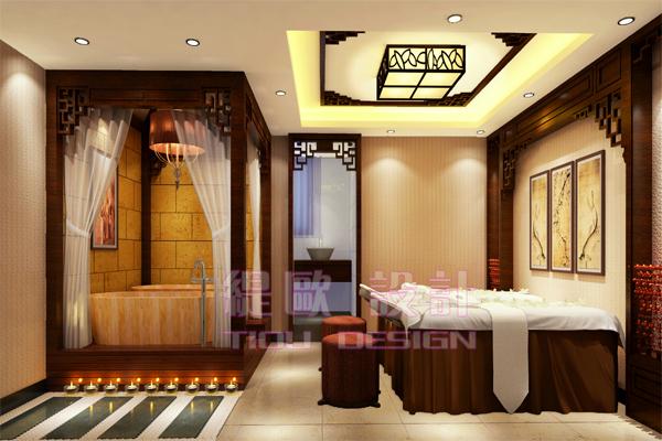 南京新中式风格美容院装修找哪家公司好?图片