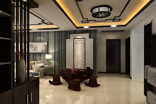天津现代中式风格设计装修,天津拓者装饰设计图片