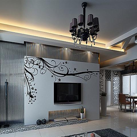 而请专业的手绘师来家里绘画,一个影视墙下来,也不过3000-4000元钱.
