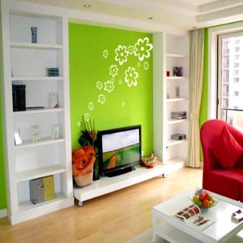 山西手绘墙,墙绘公司,客厅无框装饰画