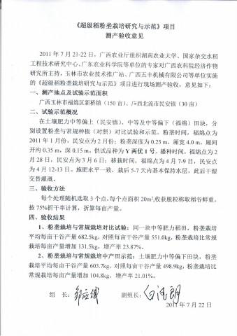 1-1超级稻粉垄栽培研究