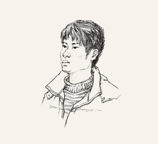 武汉大学铅笔手绘