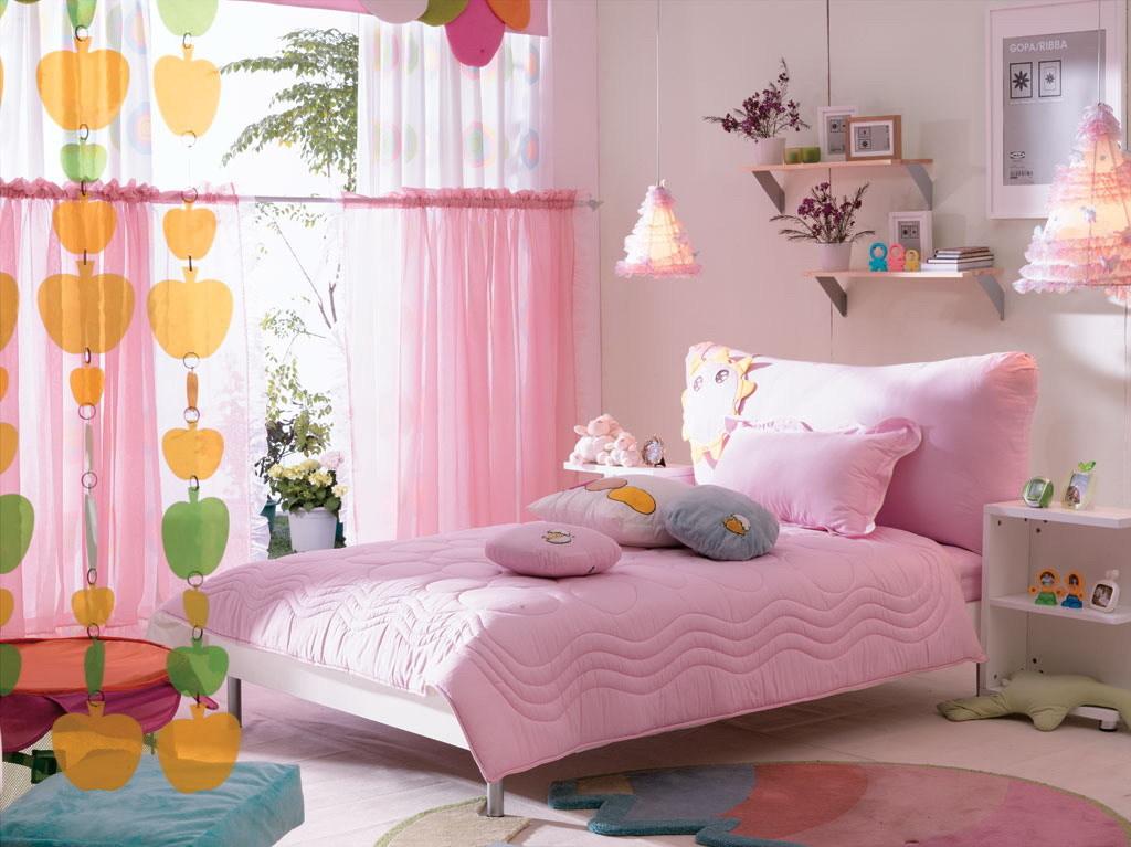 粉嫩的儿童房 要是有个女儿我也想将她的房间整成这样的 粉嫩的可爱