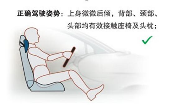 正确的驾驶姿势对行车的安全也是十分重要