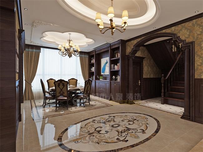 西安城市人家装饰龙湖香醍300平米美式风格设计案例图片