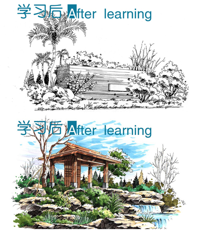 郑州手绘培训,专业手绘培训,建筑快题,建筑考研推荐大禹手绘