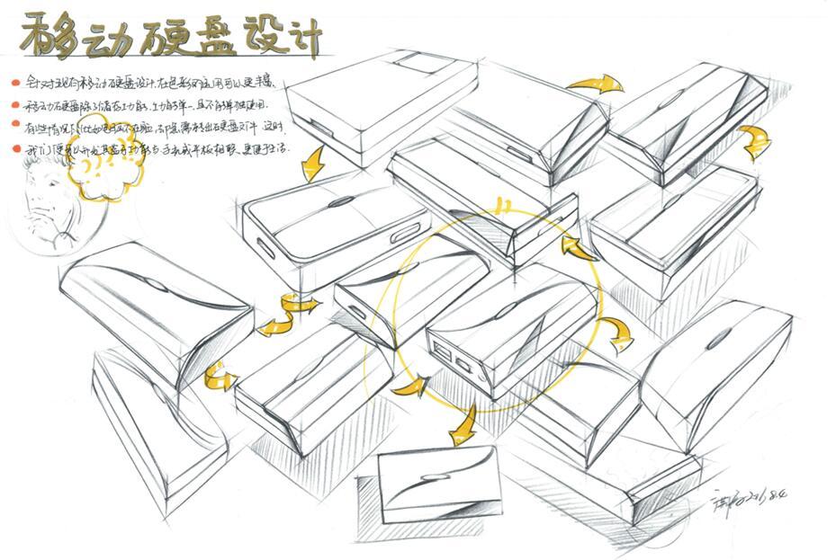 产品陈列手绘图