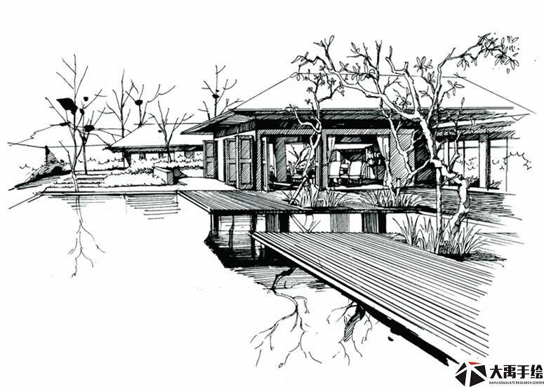 郑州室外建筑手绘,景观手绘,汽车手绘培训学校