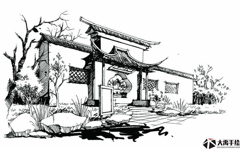 武汉建筑手绘,周末手绘培训,室内设计手绘培训基地