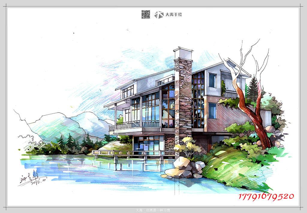 这些美爆了的建筑手绘效果图,大禹出品,必是精品
