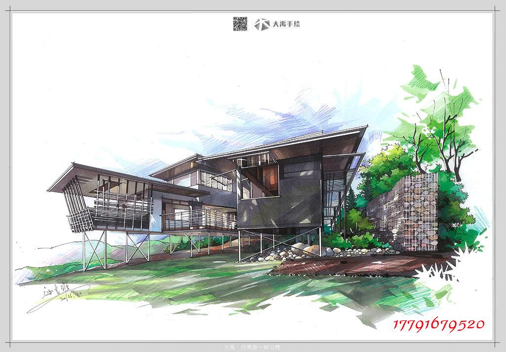 北京建筑手绘培训,大连建筑手绘培训