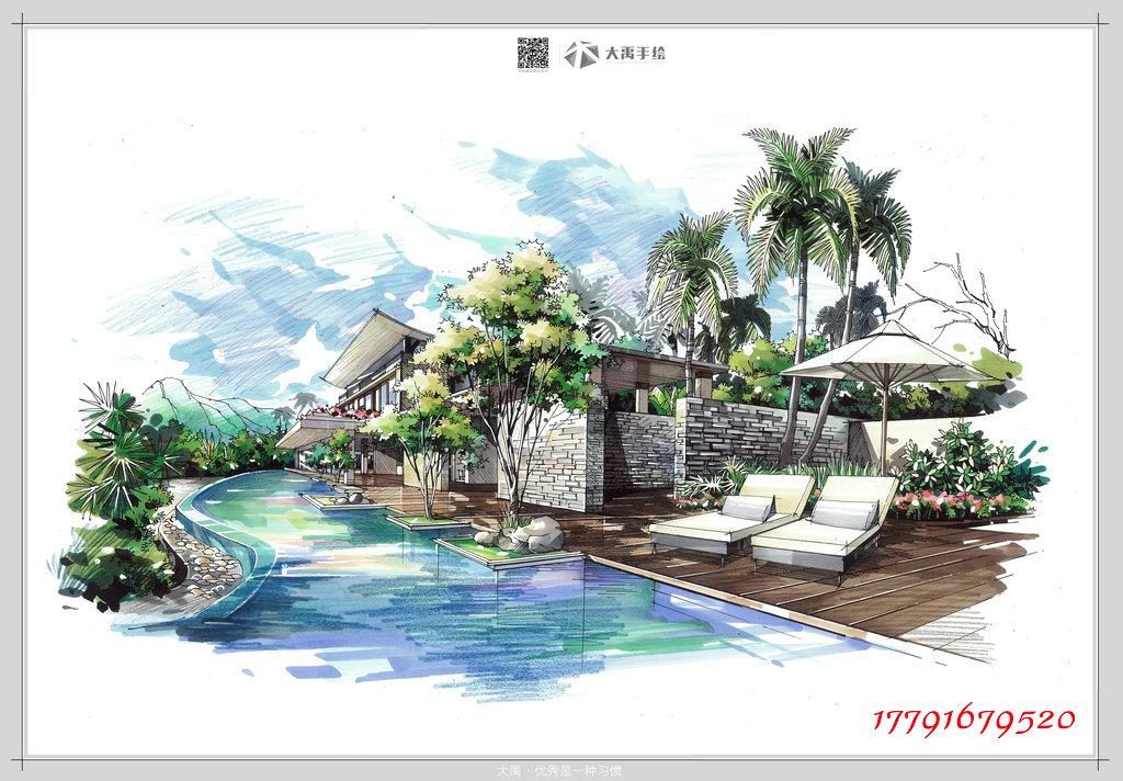 西南建筑手绘培训,武汉建筑手绘培训之专业手绘培训机构大禹手绘