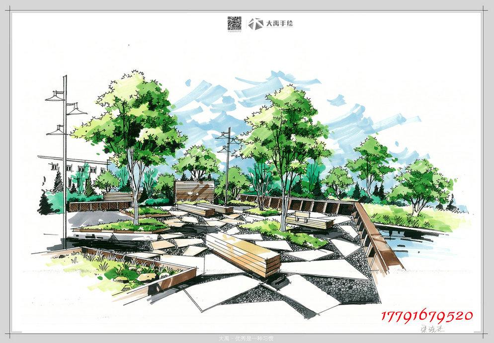 北京建筑手绘培训,大连建筑手绘培训,首选大禹手绘培训