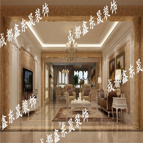 装饰上,欧式古典家装的装饰还是将奢华进行到底,法式宫廷油画,欧式