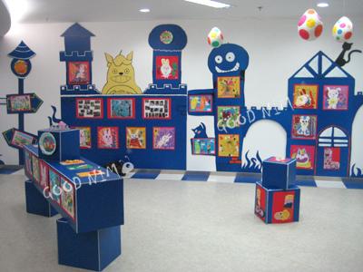 幼儿园环创设计,幼儿园大厅环创,武汉新海豚幼儿园环创