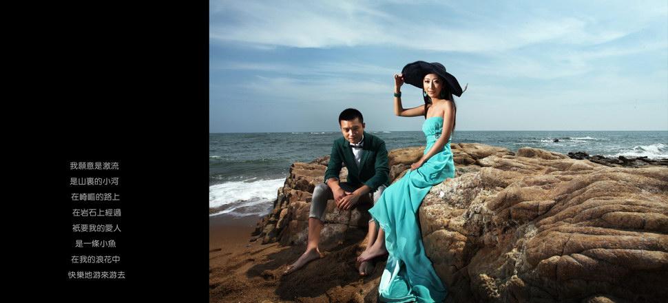 个性海景婚纱拍摄注意事项,秦皇岛秀摄影长城婚纱照风格,南戴河个性