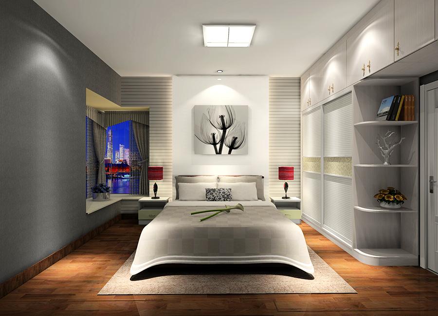 现代简约风格卧室衣柜设计效果图1图片