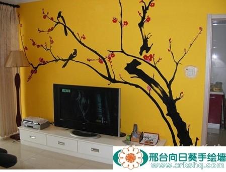 邢台电视墙手绘工作室 向日葵打造零缺憾住宅