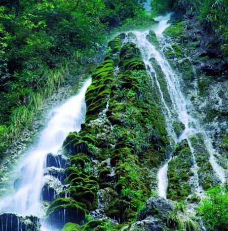 壁纸 风景 旅游 瀑布 山水 桌面 450_455