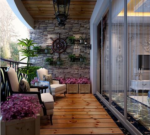 欧式大理石建筑阳台