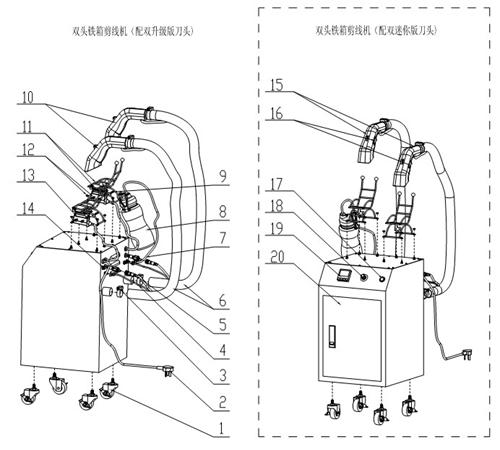 铁箱剪线机系例安装图片步骤