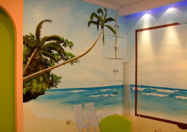 郊家庭手绘卧室背景墙,将本着一惯认真严谨的工作态度为每一位客