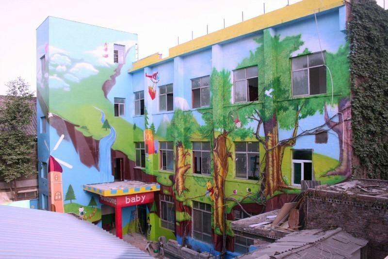 河北张家口校园手绘墙画,首选庆源艺术