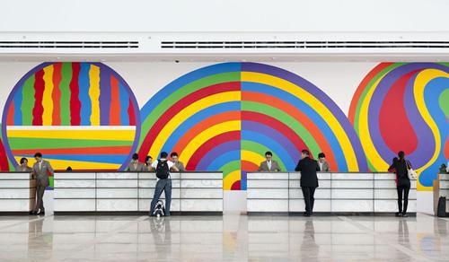 飞机场壁画设计制作,飞机场广告宣传画 庆源艺术,专业制作室内外手绘