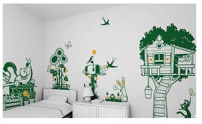 新农村建设壁画密云户外手绘墙,校园墙绘室外文化墙,校园环境建设规划
