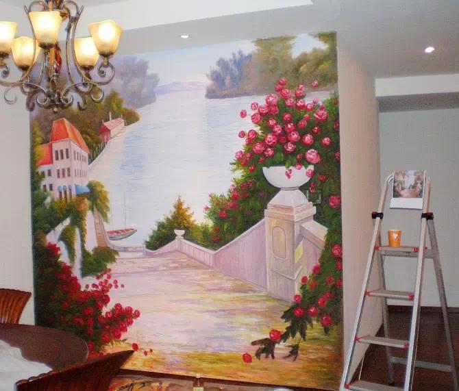 喷绘 大型广告宣传壁画 房地产立体宣传壁画 样板间宣传壁画 高清图片