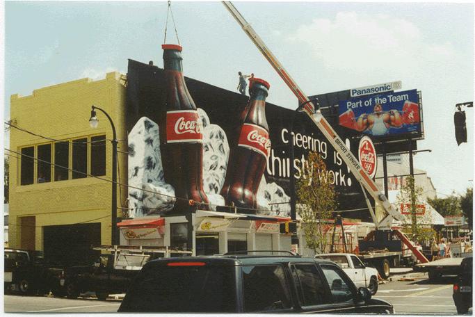 可口可乐广告海报手绘