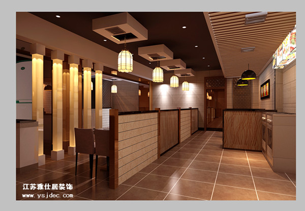 南京中式火锅店装修设计效果图--时尚的火锅店设计-南京中式火锅店装