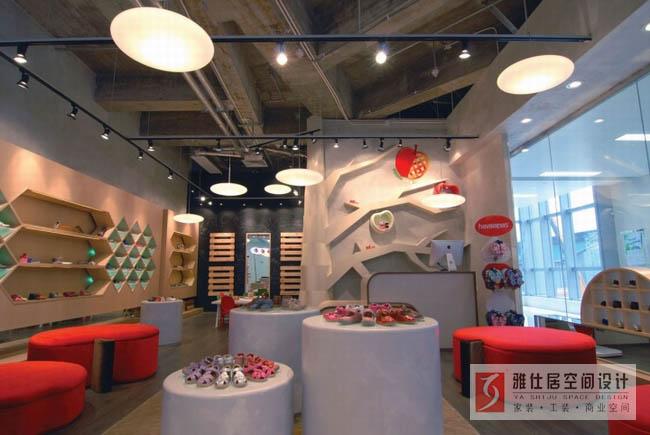 鞋店装修公司哪家好?找南京超市鞋店设计公司江苏雅仕居装饰高清图片