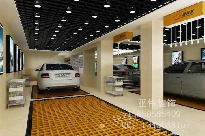 南京洗车店装修案例|汽车美容店装修设计图片图片
