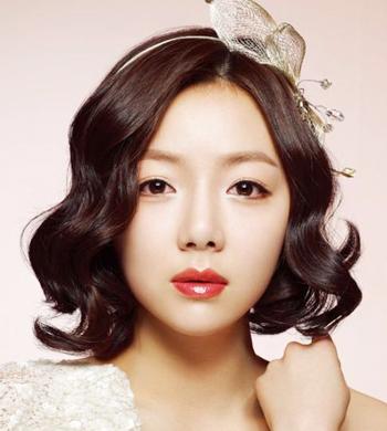 韩式短发新娘发型图片