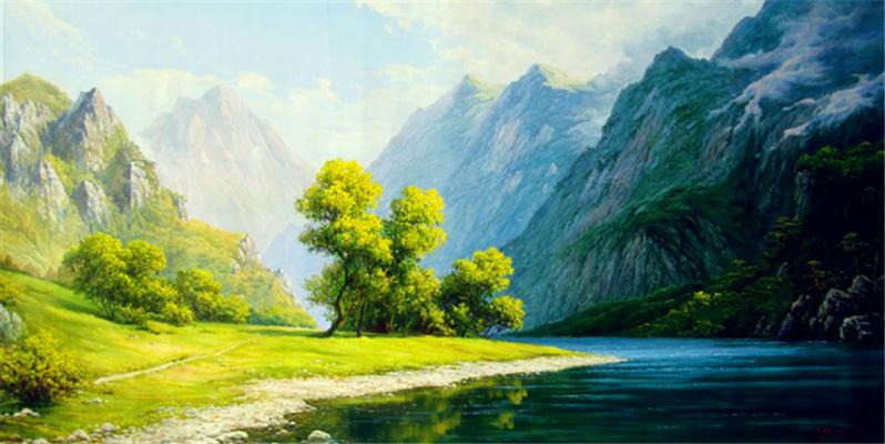 油画风景 油画人物 中国油画 家居油画 定画咨询电话13370182218