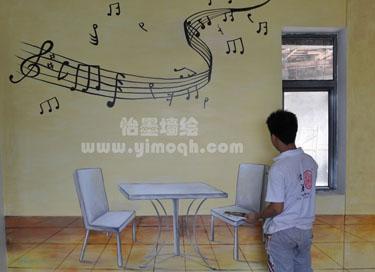但手绘墙的视觉冲击力