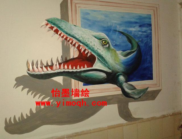 3d手绘墙 活灵活现的立体视觉艺术