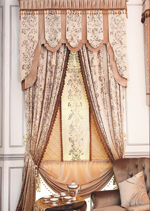 【窗帘十大品牌伊莎莱】古典欧式奢华窗帘布艺