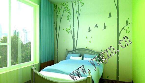 云南昆明硅藻泥卧室装修效果图片;