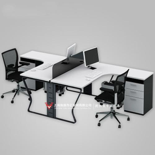 上海杨浦区办公家具,办公桌转角双人桌定制
