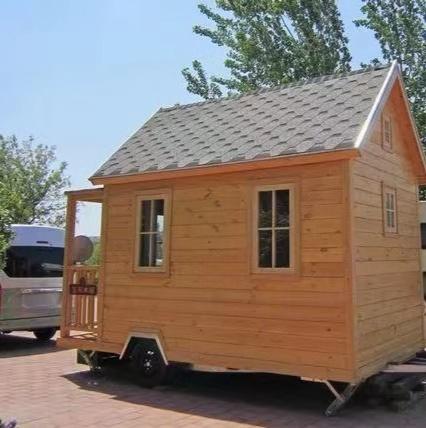 现代化木屋  以地螺丝为基础,现代化木屋更具有色彩人文化,结构