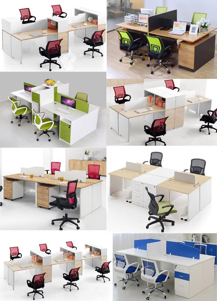 中山石岐员工桌办公台电脑桌屏风卡位多人工作位职断桌定做办公桌