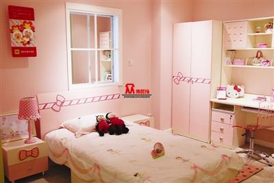 小公主房--房间的主人是个3岁不到的小女孩,可爱的萌萌哒