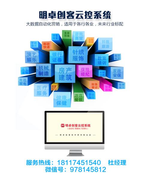 微信营销推广系统营销神器, 明卓云控新媒体营