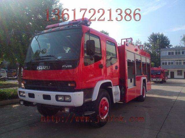 五十铃6吨水罐消防车采用重庆五十铃汽车底盘